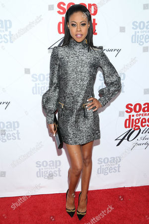 Stock Image of Vinessa Antoine arrives at the 40th Anniversary of Soap Opera Digest at The Argyle Hollywood, in Los Angeles