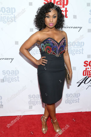 Angell Conwell arrives at the 40th Anniversary of Soap Opera Digest at The Argyle Hollywood, in Los Angeles
