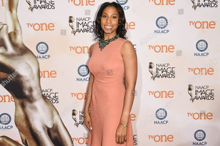 Stock Photo of Sharon Brathwaite attends the 46th NAACP Image Awards Nominees' Luncheon at The Beverly Hilton Hotel, in Beverly Hills, Calif