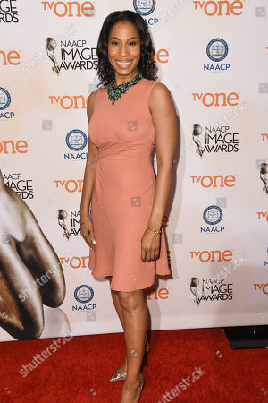 Sharon Brathwaite attends the 46th NAACP Image Awards Nomineesâ?™ Luncheon at The Beverly Hilton Hotel, in Beverly Hills, Calif