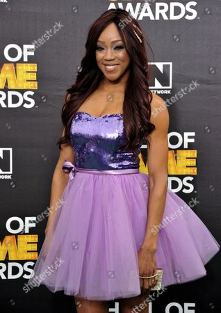 Alicia Fox arrives at the 4th Annual Hall of Game Awards on Saturday, Feb, 15, 2014 in Santa Monica, Calif