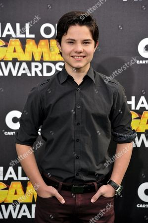 Zach Callison arrives at the 4th Annual Hall of Game Awards on Saturday, Feb, 15, 2014 in Santa Monica, Calif