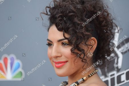 """Stock Photo of Monique Benabou arrives at the 4th season premiere screening of """"The Voice"""" at the TCL Theatre on in Los Angeles"""