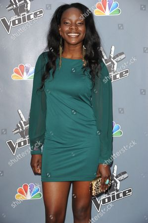 "Adanna Duru arrives at the 4th season premiere screening of ""The Voice"" at the TCL Theatre on in Los Angeles"