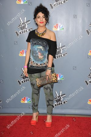 """Stock Picture of Monique Benabou arrives at the 4th season premiere screening of """"The Voice"""" at the TCL Theatre on in Los Angeles"""