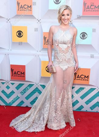Savannah Chrisley arrives at the 51st annual Academy of Country Music Awards at the MGM Grand Garden Arena, in Las Vegas