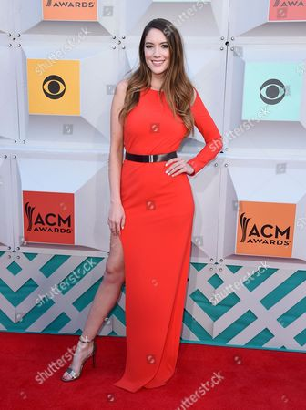 Stock Photo of Blair Fowler arrives at the 51st annual Academy of Country Music Awards at the MGM Grand Garden Arena, in Las Vegas