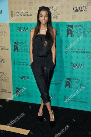 Nala Wayans arrives at the 5th Annual ESSENCE Black Women in Music Event at 1 OAK, in West Hollywood, Calif