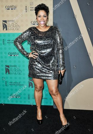 """Nichole """"Nicci"""" Gilbert arrives at the 5th Annual ESSENCE Black Women in Music Event at 1 OAK, in West Hollywood, Calif"""