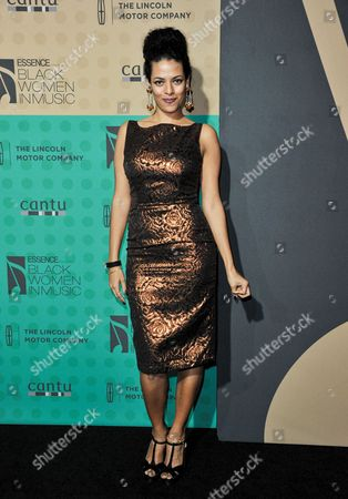DJ Rashida arrives at the 5th Annual ESSENCE Black Women in Music Event at 1 OAK, in West Hollywood, Calif