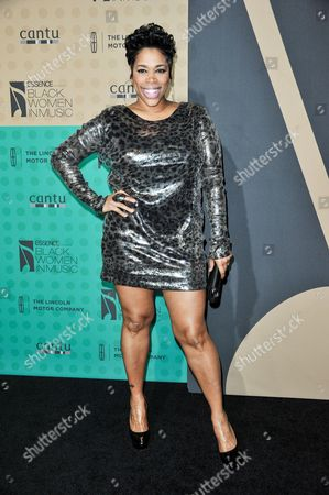 """Stock Photo of Nichole """"Nicci"""" Gilbert arrives at the 5th Annual ESSENCE Black Women in Music Event at 1 OAK, in West Hollywood, Calif"""