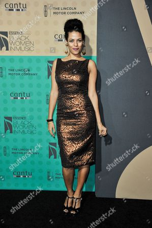 Stock Image of DJ Rashida arrives at the 5th Annual ESSENCE Black Women in Music Event at 1 OAK, in West Hollywood, Calif
