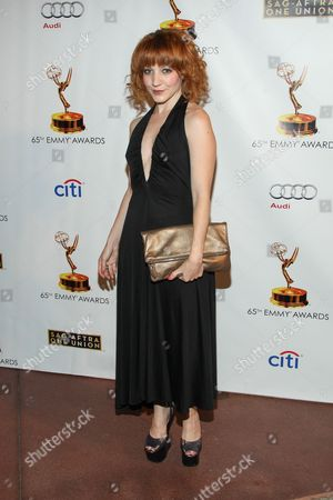 Actress Megan Duffy arrives at the 65th Emmy Awards Nomination Celebration at the Academy of Television Arts and Sciences on in North Hollywood, California