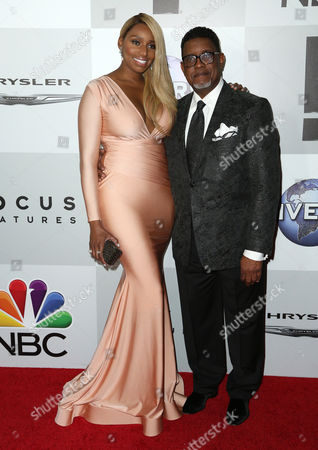 NeNe Leakes and Gregg Leakes arrive at the NBCUniversal Golden Globes afterparty, at the Beverly Hilton Hotel in Beverly Hills, Calif