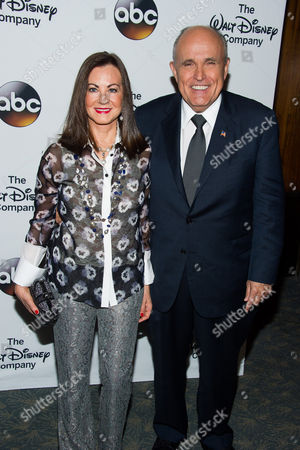 Judith Nathan and Rudy Giuliani attend A Celebration of Barbara Walters at the Four Seasons Restaurant on in New York