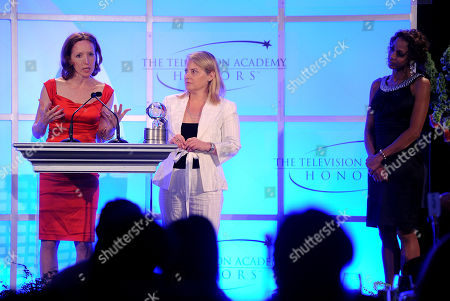 "MAY 5: Creator, Darlene Hunt (L) and Executive Producer, Jenny Bicks accept the award for 'The Big C' ""Taking the Plunge"" onstage at the Academy Of Television Arts & Sciences Presents ""The 4th Annual Television Academy Honors"" at the Beverly Hills Hotel, in Beverly Hills, California"