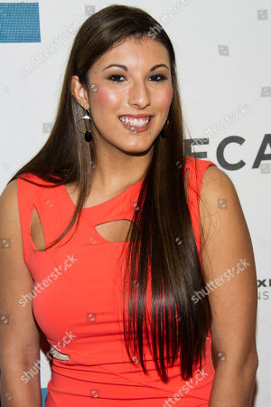"Leah Lauren attends the premiere of ""Adult World"" during the 2013 Tribeca Film Festival on in New York"