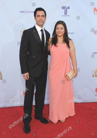 Danny Pino, left, and Lilly Pino arrive at the ALMA Awards, in Pasadena, Calif