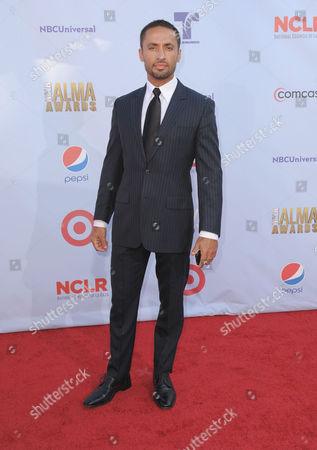 Kamar de los Reyes arrives at the ALMA Awards, in Pasadena, Calif