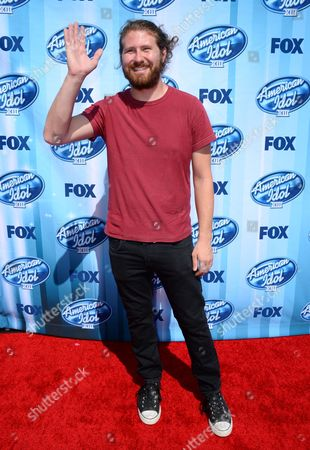 Casey Abrams arrives at the American Idol XIII finale at the Nokia Theatre at L.A. Live, in Los Angeles