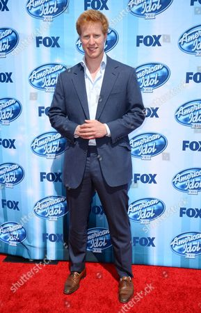 Matthew Hicks arrives at the American Idol XIII finale at the Nokia Theatre at L.A. Live, in Los Angeles