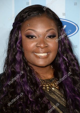 Candice Glover arrives at the American Idol XIII premiere event, at UCLA, Royce Hall on in Los Angeles