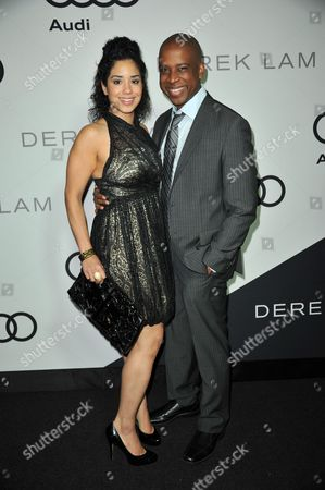 Keith Powell, left, and Jill Knox attends the Audi and Derek Lam Emmy Week Kick-Off at Cecconi's, in Los Angeles