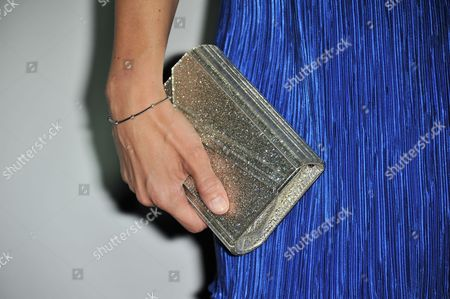 Louise Griffiths 9purse detail) attends the Audi and Derek Lam Emmy Week Kick-Off at Cecconi's, in Los Angeles