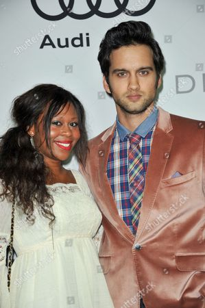 Michael Steger,right, attends the Audi and Derek Lam Emmy Week Kick-Off at Cecconi's, in Los Angeles