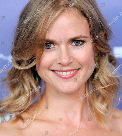 Stock Image of Actress Pippa Black poses at the Australians in Film 8th Annual Breakthrough Awards, in Los Angeles