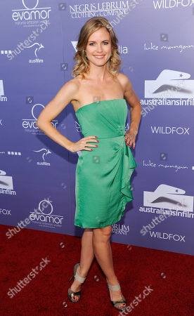 Actress Pippa Black poses at the Australians in Film 8th Annual Breakthrough Awards, in Los Angeles