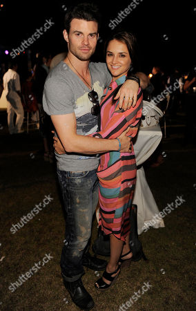 Actress Rachel Leigh Cook poses with her husband Daniel Gillies at the Baja International Film Festival, in San Jose del Cabo, Mexico