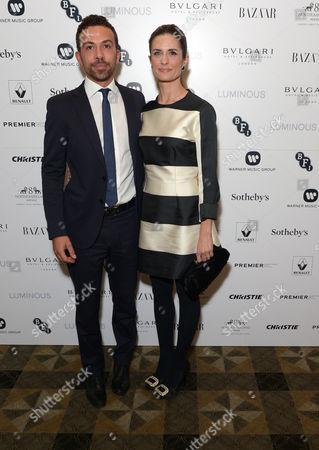 Stock Image of Nicola Giuggioli and Livia Firth attend BFI Luminous Fundraising Gala, in London
