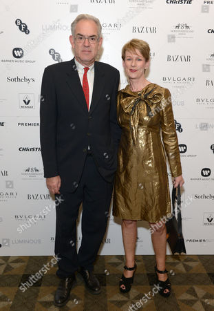 Stock Photo of Libby Savill (right) and guest attend BFI Luminous Fundraising Gala, in London