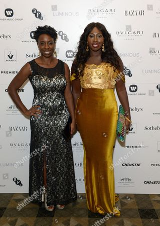 Stock Photo of Bola Agbaje and Destiny Ekaragha attend BFI Luminous Fundraising Gala, in London