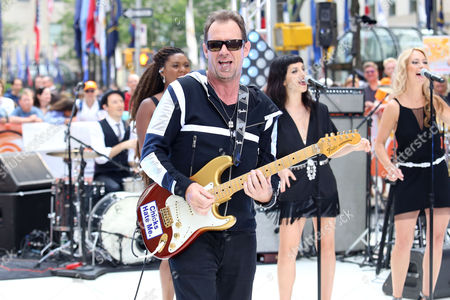 """Roy Hay of Culture Club performs on NBC's """"Today"""" show at Rockefeller Plaza, in New York"""