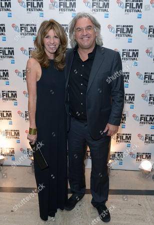 Joanna Greengrass and Paul Greengrass attend the After Party of the 57th BFI London Film Festival OPening Night in partnership with American Express at the Bloomsbury Ballroom on in London