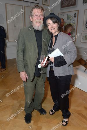 John Hurt and Anwen Rees-Meyers John Hurt and wife Anwen Rees-Meyers attend the Royal Academy Summer Exhibition preview party in London on