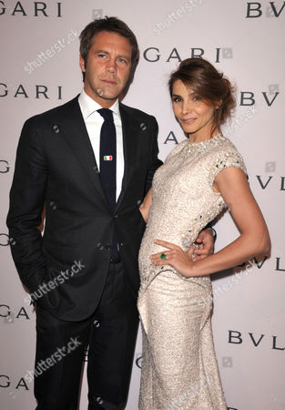Prince Emanuele Filiberto di Savoia and Princess Clotilde Courau arrive at BVLGARI's event celebrating Elizabeth Taylor and her magnificent BVLGARI jewel collection at BVLGARI Beverly Hills on in Beverly Hills, Calif