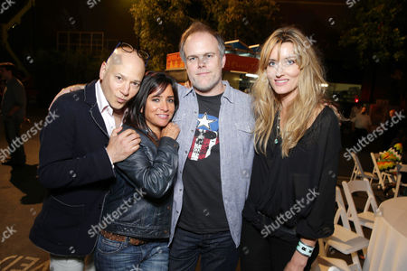 EXCLUSIVE CONTENT - PREMIUM RATES APPLY Evan Handler, Pamela Adlon, Creator/Executive Producer Tom Kapinos and Natascha McElhone seen at the Californication Season 7 Wrap Party, on Saturday, July, 27, 2013 in Los Angeles