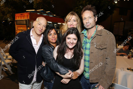 EXCLUSIVE CONTENT - PREMIUM RATES APPLY Evan Handler, Pamela Adlon, Madeleine Martin, Natascha McElhone and David Duchovny seen at the Californication Season 7 Wrap Party, on Saturday, July, 27, 2013 in Los Angeles