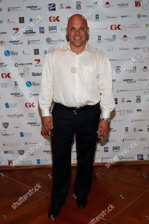 Jim Leyritz arrives at the Annual Charity Day hosted by Cantor Fitzgerald and BGC Partners, on in New York