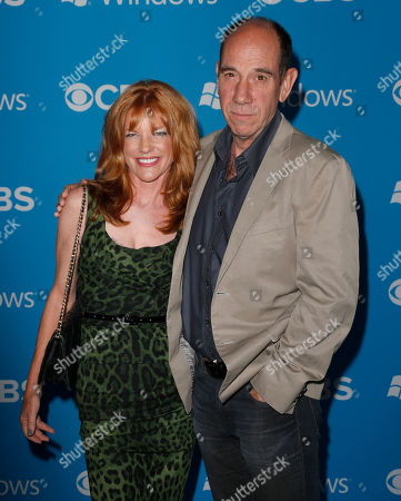 Lori Weintraub and Miguel Ferrer attend the CBS 2012 Fall Premiere Party at Greystone Manor on in West Hollywood, Calif