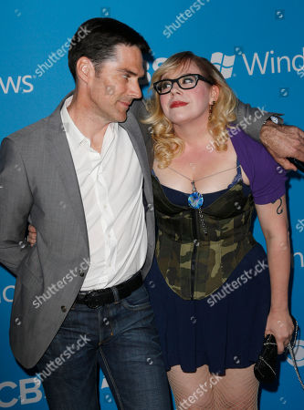 Thomas Gibson and Kirsten Vangsness attend the CBS 2012 Fall Premiere Party at Greystone Manor on in West Hollywood, Calif
