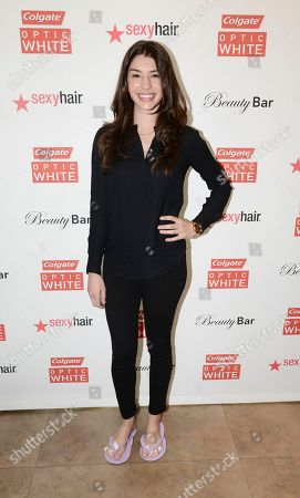 Actress Jamie Gray Hyder at the Colgate Optic White Beauty Bar - Golden Globes Weekend on in Los Angeles