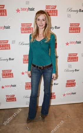 Actress Vanessa Branch at the Colgate Optic White Beauty Bar - Golden Globes Weekend on in Los Angeles