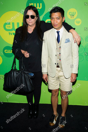 Kelly Cutrone and Bryanboy attend the CW Upfront on in New York