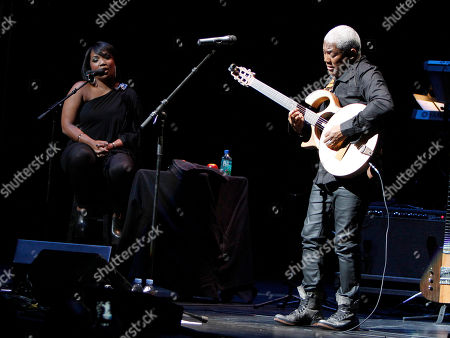 Jazz superstars David Sanborn and Jonathan Butler performed at the Cobb Energy Center as part of the Atlanta Jazz Roots Concert Series on in Atlanta. Jonathan Butler closed the show with his set and, at one point, was joined onstage by his daughter, Jodi