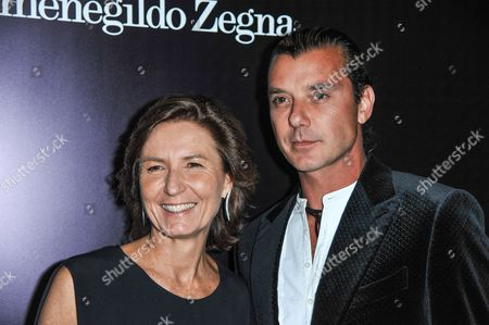 Anna Zegna, left, and Gavin Rossdale arrives at the Ermenegildo Zegna Boutique opening on in Beverly Hills, Calif