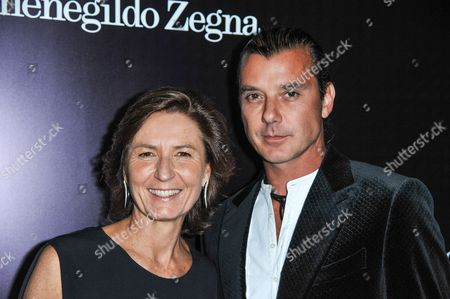 Anna Zegna, left, and Gavin Rossdalearrives at the Ermenegildo Zegna Boutique opening on in Beverly Hills, Calif